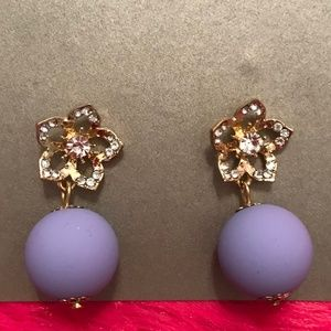 Jewelry - Purple Drop Earrings with Star Accent